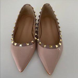 Rockstud Patent Ballet Flats size 38 brand new